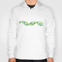 dna Hoodies featuring DNA by Emma J. Hardy