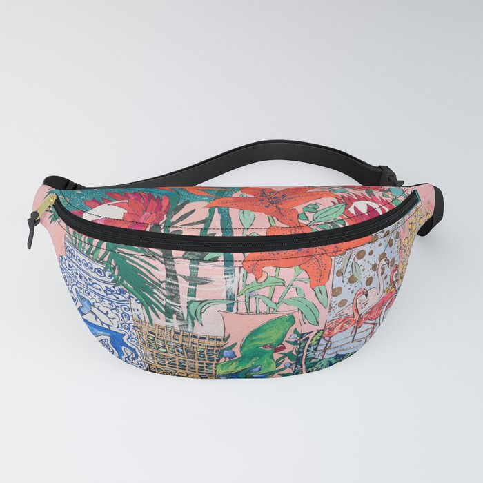 The Domesticated Jungle - Floral Still Life Fanny Pack