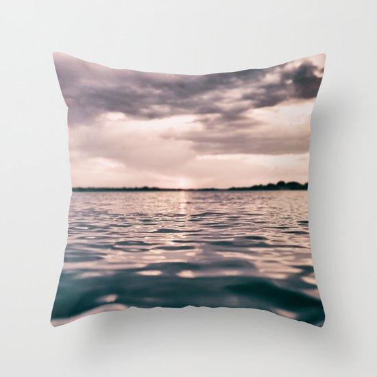 The calm #lake Throw Pillow