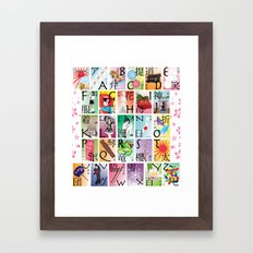 Japan A-Z Framed Art Print