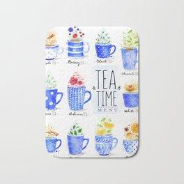 Tea Time Menu Bath Mat