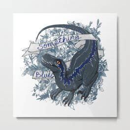 Raptor Blue Metal Print