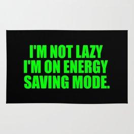 energy saving mode funny quote Rug