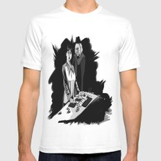 1rst Doctor & Susan... MEDIUM White Mens Fitted Tee