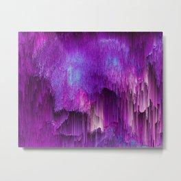 Shatter Falls - Abstract Glitch Pixel Art Metal Print