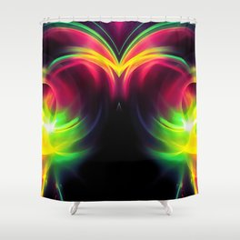 abstract fractals mirrored reacstd Shower Curtain