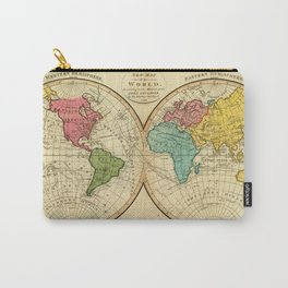 Vintage Map of The World (1799) Carry-All Pouch