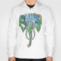 tatoo Hoodies featuring Tatoo Elephant by PepperDsArt