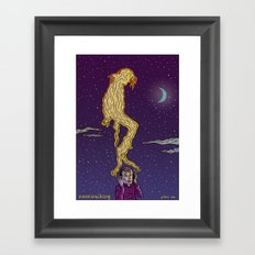 Moonwalking Framed Art Print