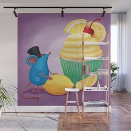 Mr. Bluemouse and a Lemon Cupcake Wall Mural