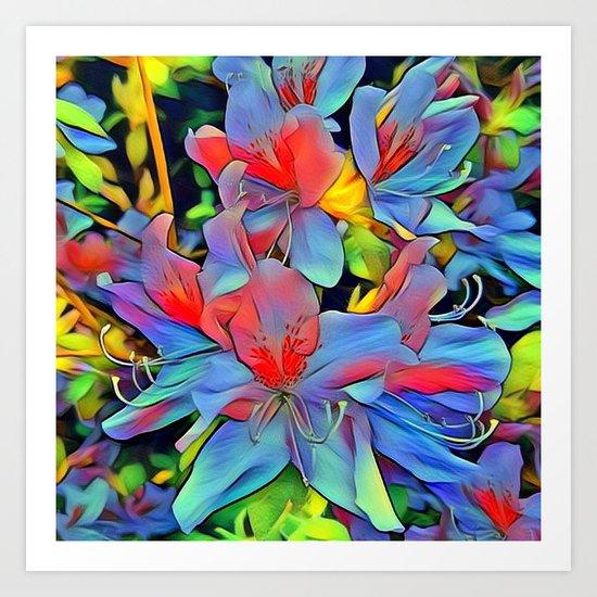 Floral ArtStudio - wonderful flowers Art Print