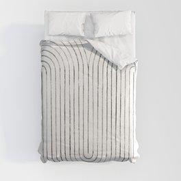 Mid century modern lines Comforters