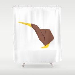 Origami Kiwi Shower Curtain