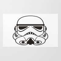 stormtrooper Area & Throw Rugs featuring stormtrooper  by Egor Chepel