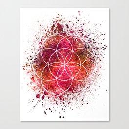 Seed of Life Sacred Geometry Canvas Print