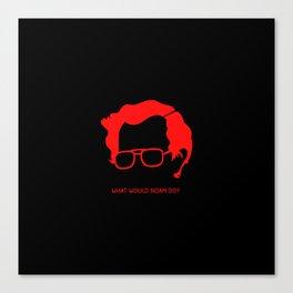 Noam Chomsky The God of Anarchist Canvas Print