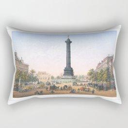 Paris art print Paris Decor office decoration vintage decor PLACE BASTILLE of Paris Rectangular Pillow