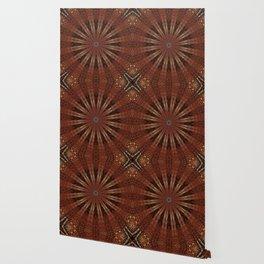 Rust Brown Bohemian Mandala Wallpaper