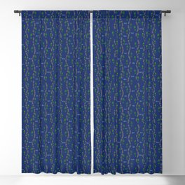 Positive Running Vibes on Blue Blackout Curtain