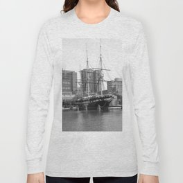 A US Frigate Ship in Baltimore, MD Long Sleeve T-shirt
