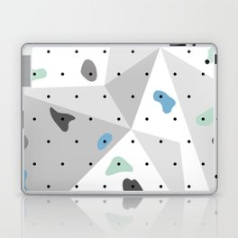 Abstract geometric climbing gym boulders blue mint Laptop & iPad Skin