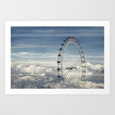 Ride Above the Clouds Art Print