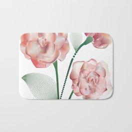 Line roses 1 Bath Mat