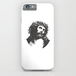Jesus Christ Crucifix Crucified Easter Crown iPhone Case