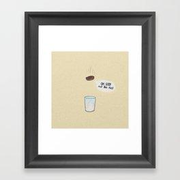 a biscuit's journey Framed Art Print