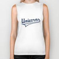 unicorns Biker Tanks featuring Unicorns by WEAREYAWN