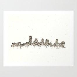 Little Rock Skyline Art Print