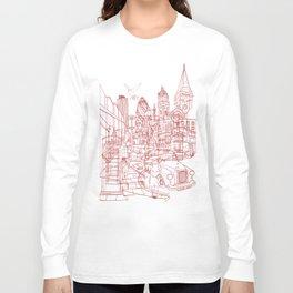 London! Yellow/Red Long Sleeve T-shirt