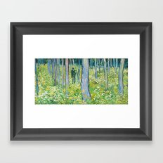 Undergrowth with Two Figures by Vincent van Gogh Framed Art Print