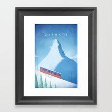 Ski Zermatt Framed Art Print