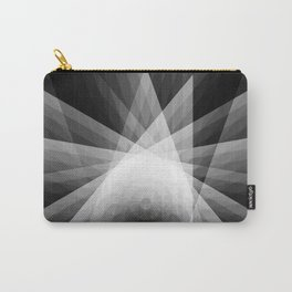 A Receptive Mind is Connected BLK/WHT Carry-All Pouch