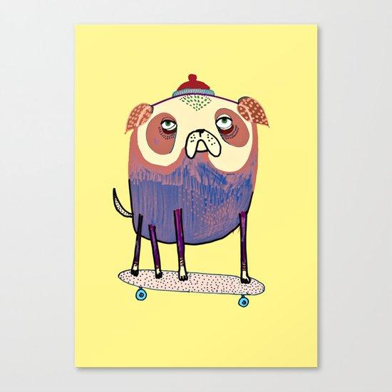 Pug Dude. Canvas Print