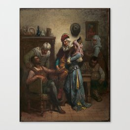 Gustave Doré Don Quixote and Sancho Panza Entertained by Basil and Quiteria Canvas Print