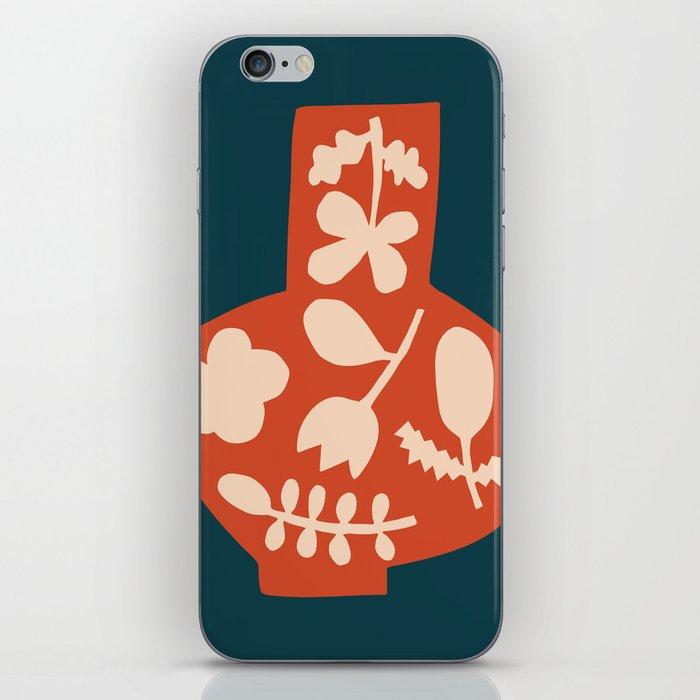Floral Vase | Blue, Red, + Peach iPhone Skin