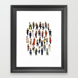 Every Clara Outfit Ever | S8 Framed Art Print
