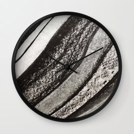 Ink & Charcoal #1 Wall Clock