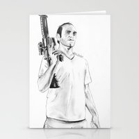grand theft auto Stationery Cards featuring Grand Theft Auto 5 by Chris Samba