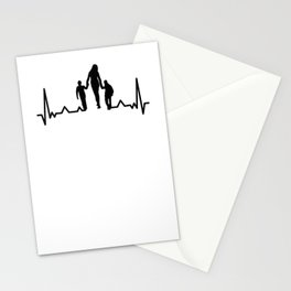 Mother and Children Heartbeat Stationery Cards