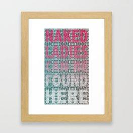 Found Naked Announcement.  Framed Art Print