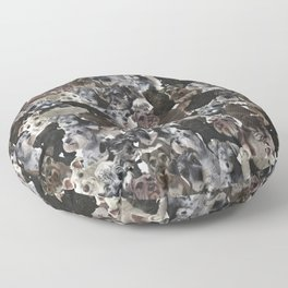 Schnauzer Collage Realistic Floor Pillow