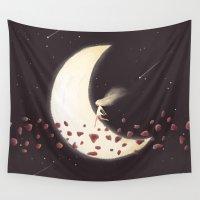 lunar Wall Tapestries featuring Lunar Child by Annisa Tiara Utami