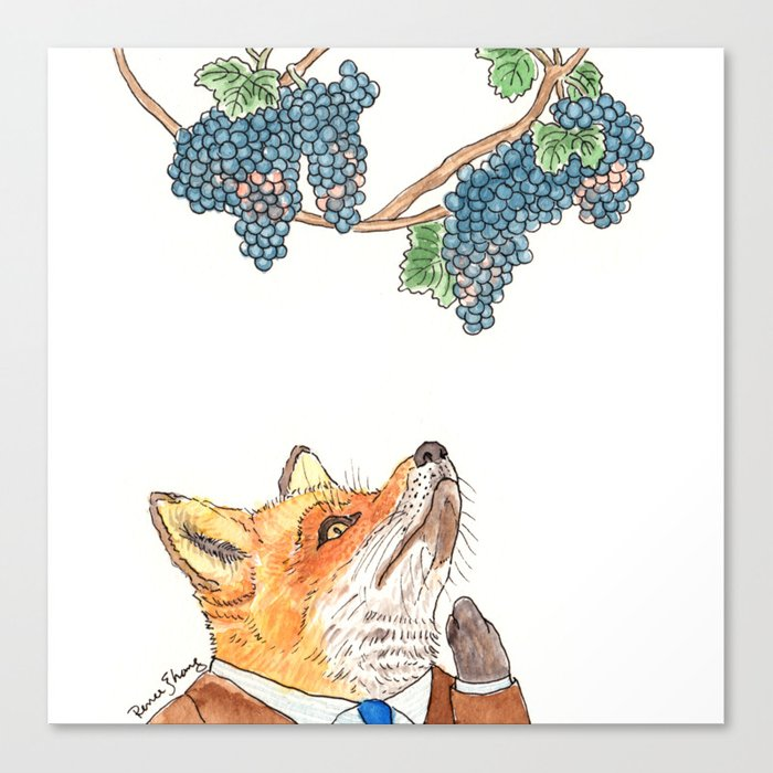 Sour Grapes Canvas Print