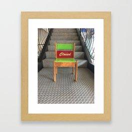 Closed Chair Framed Art Print
