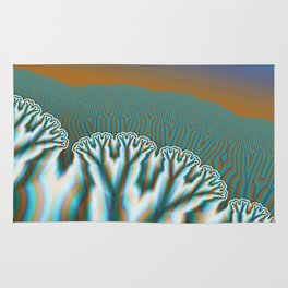 Fractal Forest Abstract Art Rug