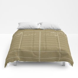 Library Card 797 Negative Brown Comforters