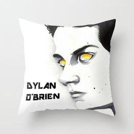 Golden Eyed Boy Throw Pillow